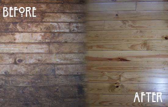 Dana floor sanding gallery hardwood floor sanding for Before and after flooring